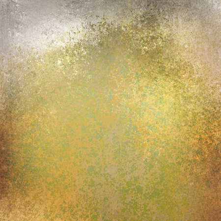 distressed texture: gold and green background with distressed texture stains