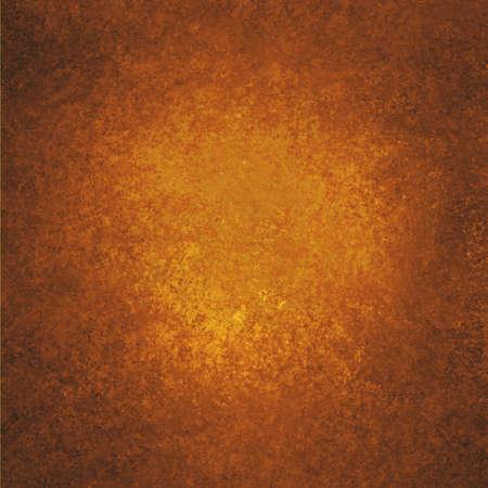 copper background: Copper background. Orange background. Black grunge textured border. Metal background paint. Autumn background. Stock Photo