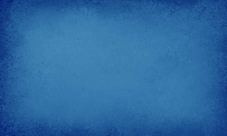 website header: textured blue background with painted wall or old paper style texture, soft center lighting and darker vignette border, elegant layout design Stock Photo
