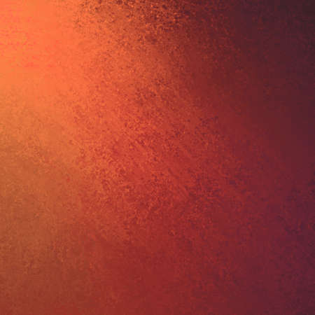 smeared: corner lighting on orange grunge textured background wall Stock Photo
