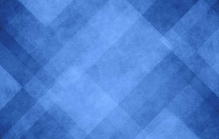 blue and white abstract background with angled lines, blocks, squares, diamonds, rectangles and triangle shapes layered in checkered style abstract pattern
