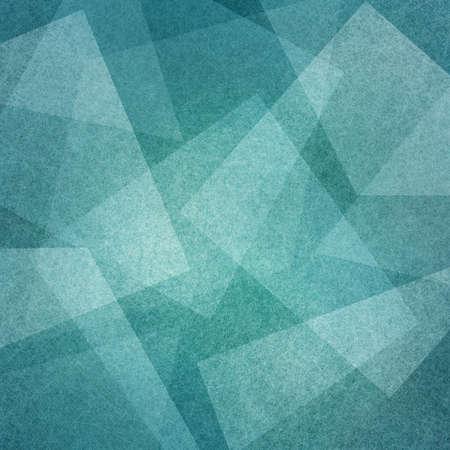 Fondo azul con ángulos cuadrados abstractos y capas triangulares en patrón geométrico abstracto para diseños web y comerciales