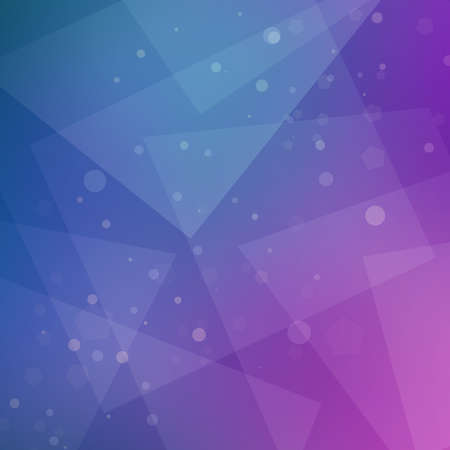 abstract purple pink and blue background design with geometric pattern and white bokeh lights with triangle shapes