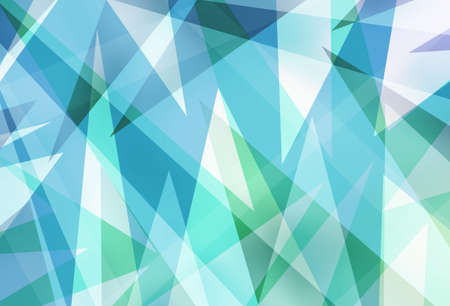 blue green background with abstract angles and triangle layers in abstract geometric pattern for web and business designs Stock Photo
