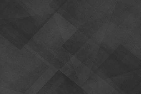 Abstract dark black background with texture and triangle shapes layered in random pattern in elegant classy design