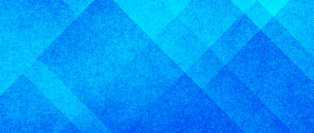 Blue and white abstract background with angled blocks, squares, diamonds, rectangle and triangle shapes layered in abstract modern art style background patter, textured background