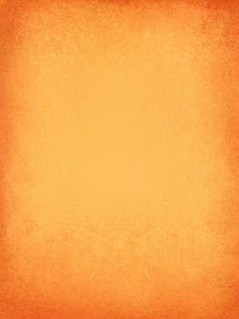 Orange background with solid warm orange and peach colors with red texture border, fall autumn halloween and thanksgiving background design to add your own text or image Standard-Bild - 130159509