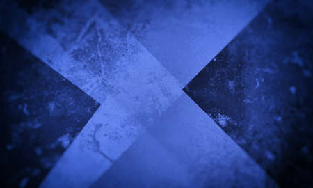 blue grunge background texture with layers of stripes and triangles in abstract modern design Standard-Bild - 130159514