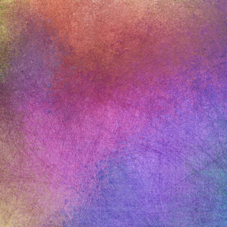 abstract background with old scuffed and scratched line texture, distressed and weathered grunge on multicolored design of purple blue pink and orange
