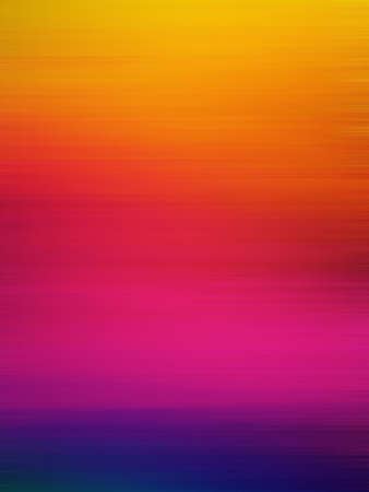 abstract motion blur background in vibrant sunset or sunrise colors of yellow orange red pink purple and blue, blurry striped line texture