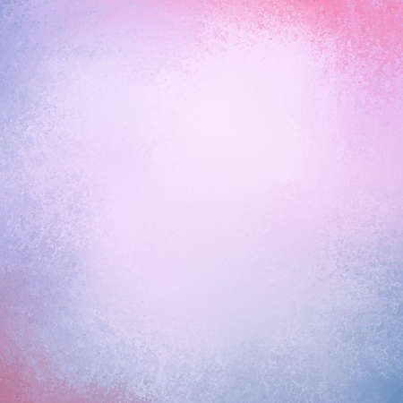 Pastel background in purple blue and pink colors with border grunge paint texture