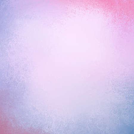 Pastelachtergrond in paarsblauwe en roze kleuren met grens grunge verftextuur