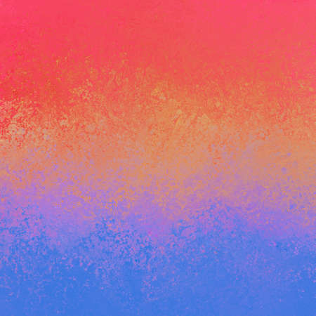 Colorful abstract pink orange purple and blue background with texture and grunge, bold bright stripes of blended smeared paint colors