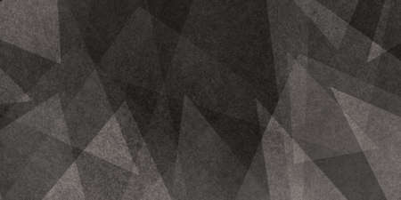 Background of dark brown and black colors with white texture in abstract geometric pattern of triangles and squares in angles, modern abstract background design