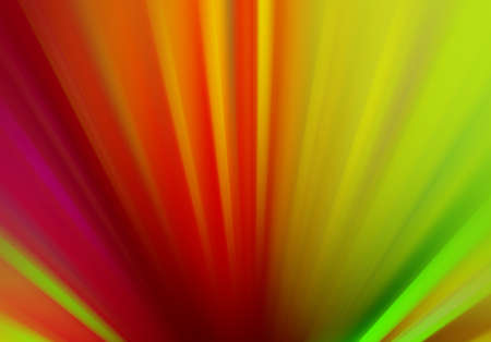 Abstract background with streaks of vibrant colors of lime green red yellow pink and purple in zoom  motion blur effect, dramatic bold background design