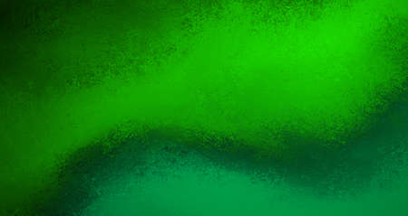 Green background with smudged, smeared painted color and rough texture grunge