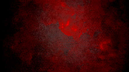 Black background with red polka dot or rough halftone pattern in artsy unique background design