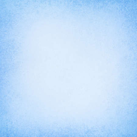 Blue background texture with pastel border and soft white center in abstract old paper or layout design