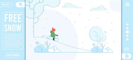 Creative Landing Page Offer Winter Holidays Rest Çizim