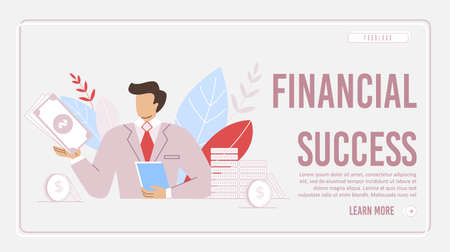 Achieving Financial Success Design of Lading Page Illustration