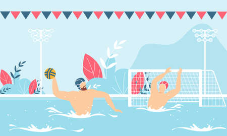 Water Polo Competition Advertising Flat Banner