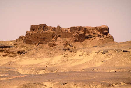 Ruined palace in the desert