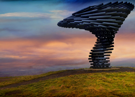 The Singing Ringing Tree with sunset Editorial