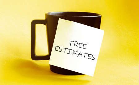 white paper with text FREE ESTIMATES
