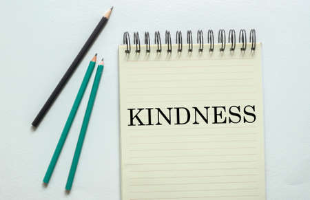 two green one black pencil with text KINDNESS 版權商用圖片