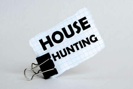 white paper on the white background with text House Hunting