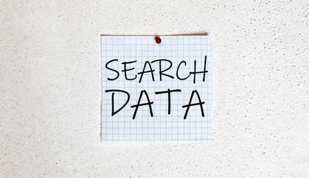white paper on the white background with text Search Data