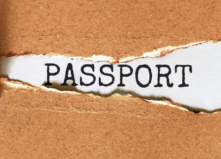 Passport. Your Journey Starts Here Motivational Inspirational Business Life Phrase Note