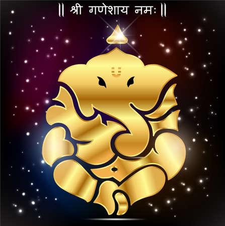 Indian god ganesha, Ganesh idol- vector eps10 일러스트