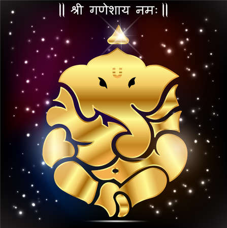 god ganesh: Indian god ganesha, Ganesh idol- vector eps10 Illustration
