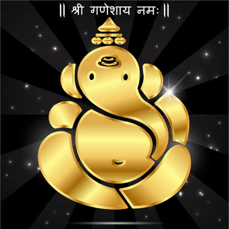 indian god: Indian god ganesha, Ganesh idol- vector eps10 Illustration