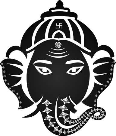 idol: Indian god ganesha, Ganesh idol- vector eps10 Illustration