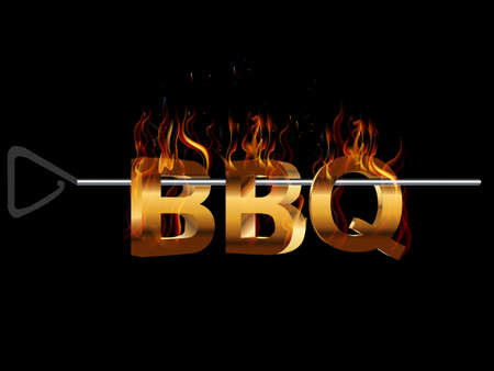 BBQ Barbecue Menu, Party invitation, flavors of grill - vector eps10 일러스트