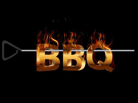 BBQ Barbecue Menu, Party invitation, flavors of grill - vector eps10 Stock Illustratie