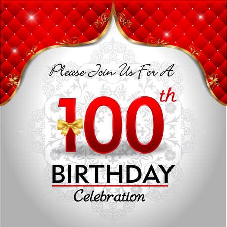 sheild: 100 years anniversary celebration, Golden sheild with blue royal emblem background