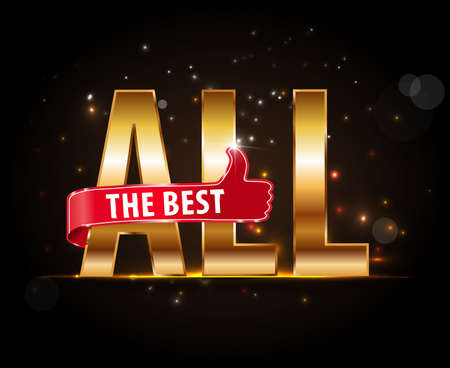 best: All the best motivational graphic for best wished - vector eps10