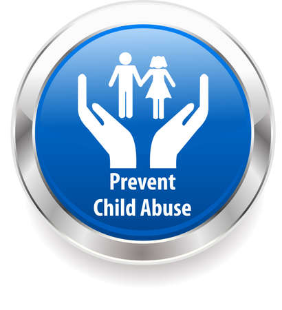 child abuse harassment awareness badge, prevent child abuse Фото со стока - 36851866