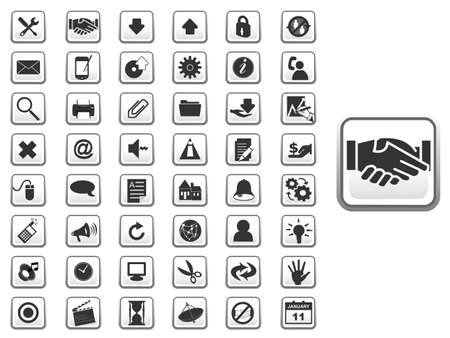 mouse pad: GUI web icon set for web and app in. EPS10 vector illustration