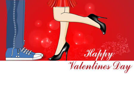 declaration of love: Happy Valentines Day, a declaration of love, kiss, valentine\\\\ Illustration
