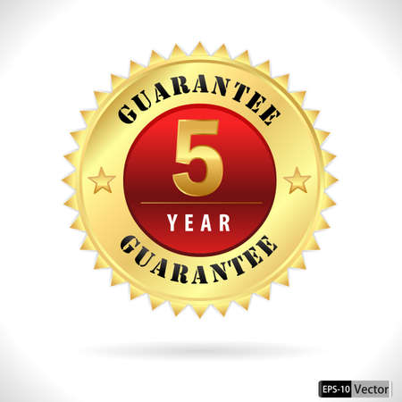 top of the year: gold top quality 5 year guarantee badge