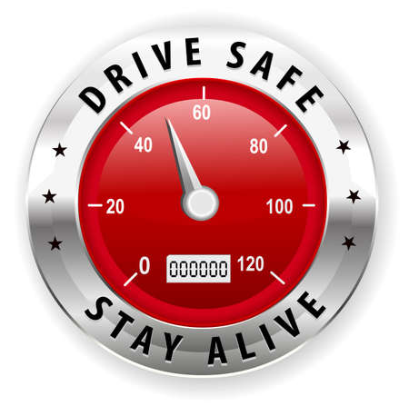 drive safely: drive safe and stay alive icon or symbol - safe driving concept vector