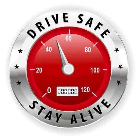 guidare sicuro e rimanere vivi icona o il simbolo - concetto di guida sicura vettore