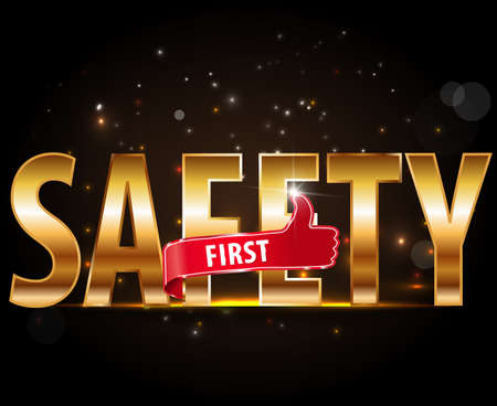 alive: safety first and stay alive icon or symbol - safe driving concept Illustration