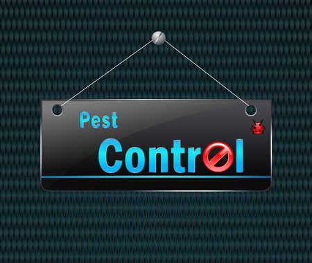 poison symbol: est Control hanging board, vector illustration Illustration