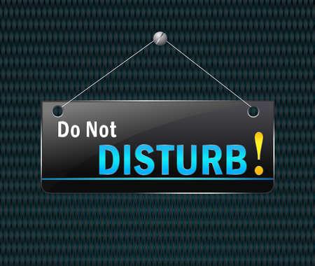 do not disturb: Do not disturb hanging sign - Vector signboard Illustration