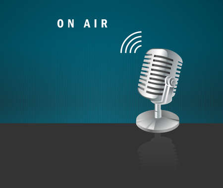 on air, microphone icon on a dark background design concept- vector design Vector